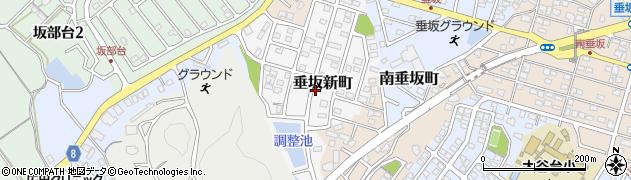 三重県四日市市垂坂新町周辺の地図