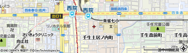 京都府京都市中京区壬生土居ノ内町周辺の地図
