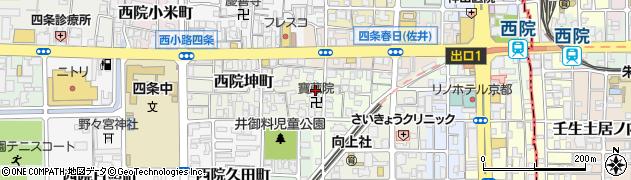 京都府京都市右京区西院松井町周辺の地図