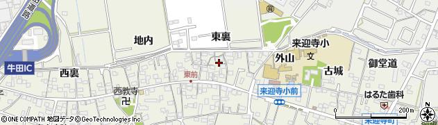 愛知県知立市牛田町(東裏)周辺の地図