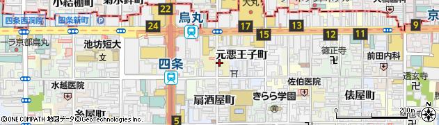 京都府京都市下京区元悪王子町周辺の地図