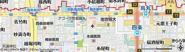 京都府京都市下京区四条町周辺の地図