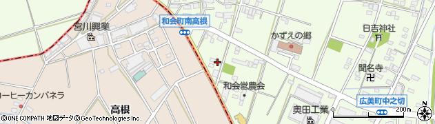 愛知県豊田市和会町(南高根)周辺の地図