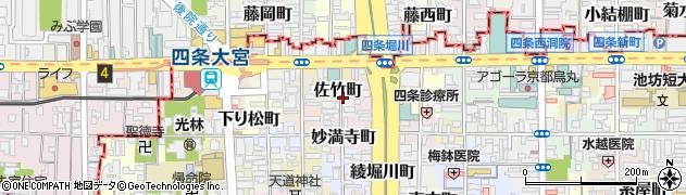 京都府京都市下京区佐竹町周辺の地図