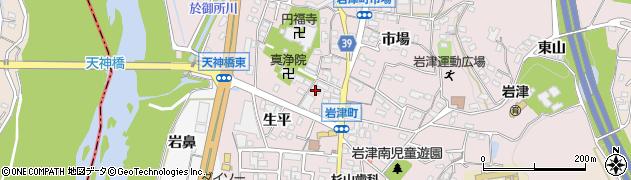 愛知県岡崎市岩津町(檀ノ上)周辺の地図