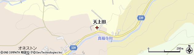 愛知県岡崎市恵田町(天上田)周辺の地図
