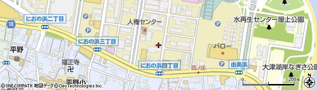 滋賀県大津市におの浜4丁目周辺の地図