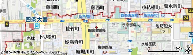 京都府京都市下京区高野堂町周辺の地図