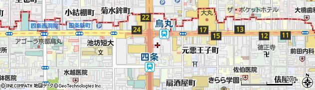 京都府京都市下京区長刀鉾町周辺の地図