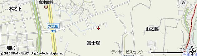 愛知県東海市加木屋町(富士塚)周辺の地図