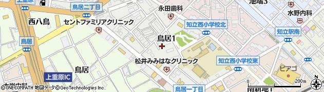 愛知県知立市鳥居周辺の地図