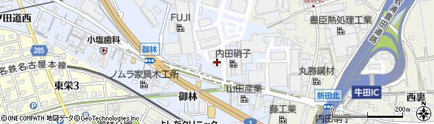 愛知県知立市山町(東並木北)周辺の地図
