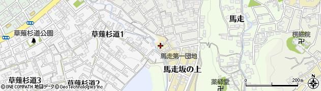 静岡県静岡市清水区馬走坂の上周辺の地図