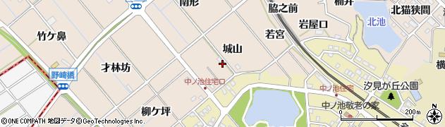 愛知県東海市高横須賀町(城山)周辺の地図