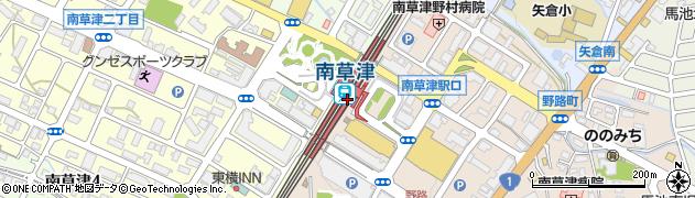 滋賀県草津市周辺の地図