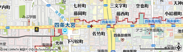 京都府京都市下京区唐津屋町周辺の地図