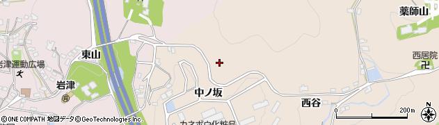 愛知県岡崎市真福寺町中ノ坂周辺の地図