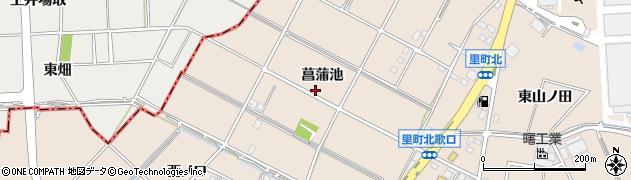 愛知県安城市里町(菖蒲池)周辺の地図