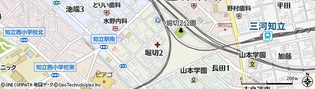 愛知県知立市堀切周辺の地図