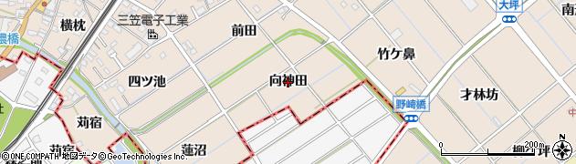 愛知県東海市養父町(向神田)周辺の地図