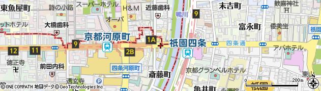 京都府京都市下京区橋本町周辺の地図