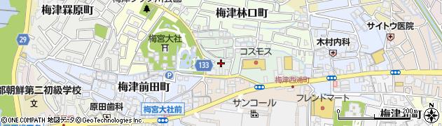京都府京都市右京区梅津徳丸町周辺の地図