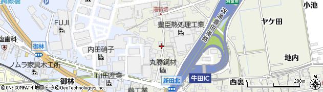 愛知県知立市牛田町(遠新切)周辺の地図