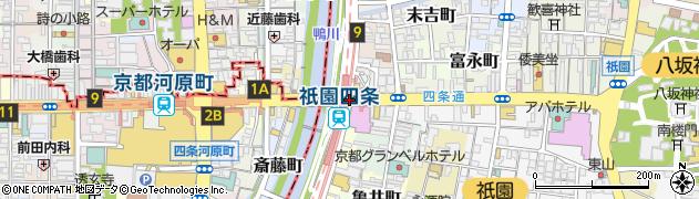 四条京阪周辺の地図