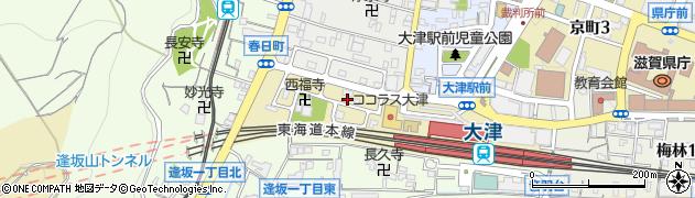 滋賀県大津市春日町周辺の地図