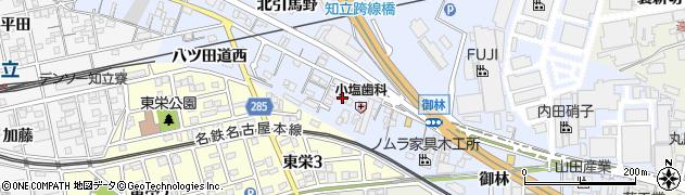 愛知県知立市山町(中畑)周辺の地図