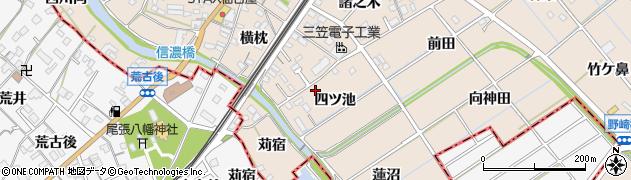 愛知県東海市養父町(四ツ池)周辺の地図