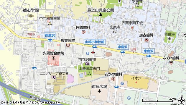 〒671-2576 兵庫県宍粟市山崎町鹿沢の地図