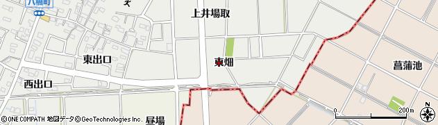愛知県知立市八橋町(東畑)周辺の地図
