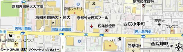 京都府京都市右京区西院四条畑町周辺の地図