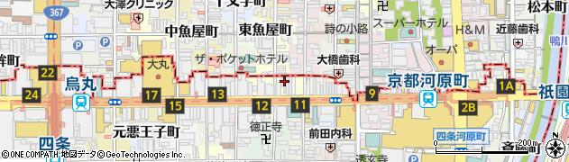 京都府京都市下京区立売東町23周辺の地図