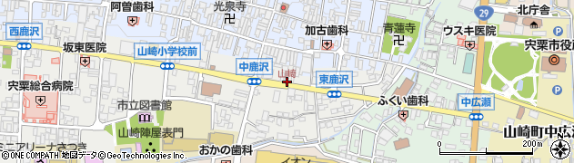 山崎周辺の地図