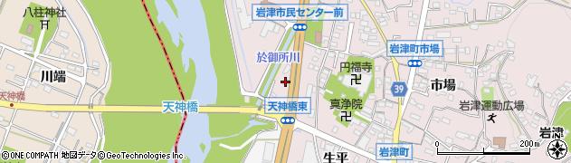 オルゴール周辺の地図
