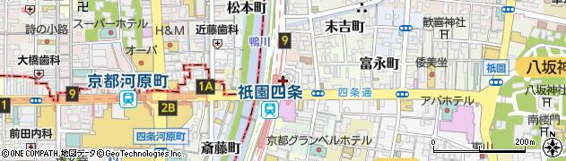京都府京都市東山区川端町周辺の地図