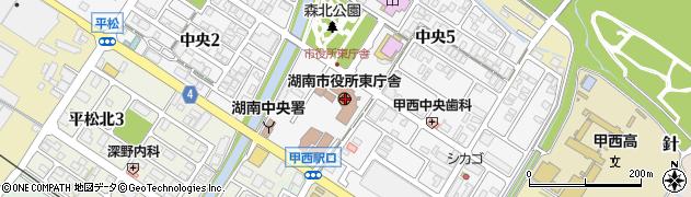 滋賀県湖南市周辺の地図