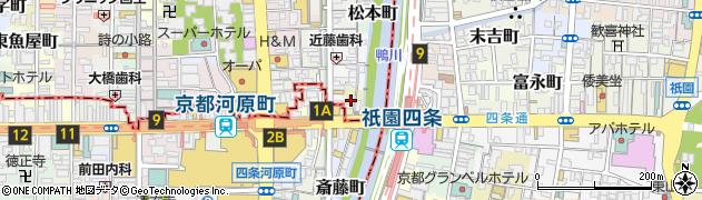 京都府京都市中京区柏屋町周辺の地図