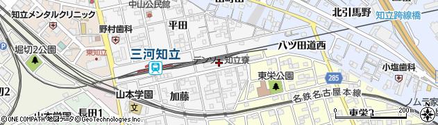 名鉄知立寮周辺の地図