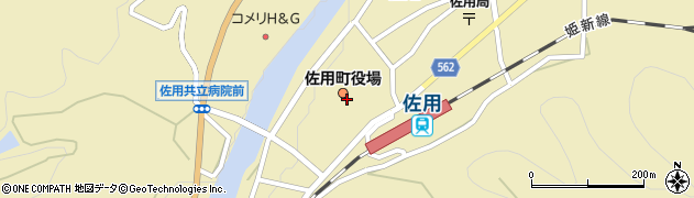 兵庫県佐用町(佐用郡)周辺の地図