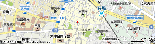 滋賀県大津市松本周辺の地図