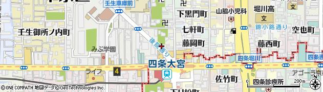 京都府京都市中京区錦大宮町周辺の地図