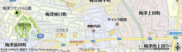 京都府京都市右京区梅津北浦町周辺の地図