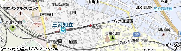 愛知県知立市内幸町(小屋場)周辺の地図