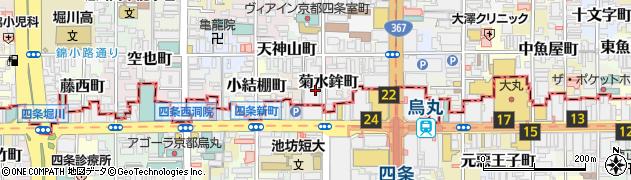 京都府京都市中京区菊水鉾町周辺の地図