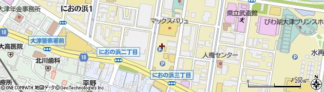 滋賀県大津市におの浜周辺の地図