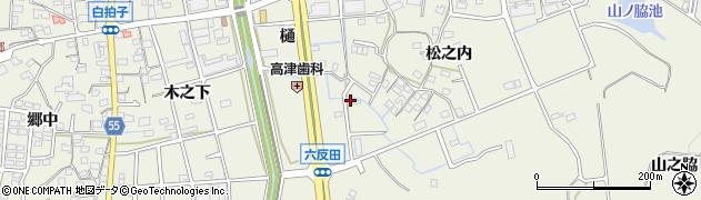 愛知県東海市加木屋町(六反田)周辺の地図