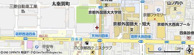 京都府京都市右京区西院笠目町周辺の地図